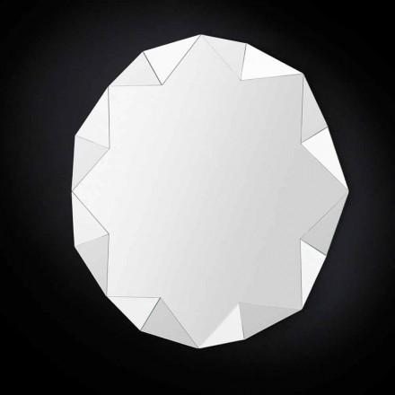 Pasqyrë mur tre-dimensionale Diamant, dizajn modern