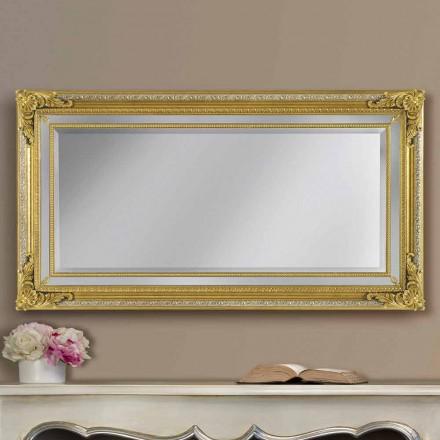 Pasqyrë mur moderne prej druri, e bërë me dorë, e bërë në Itali, Carlo