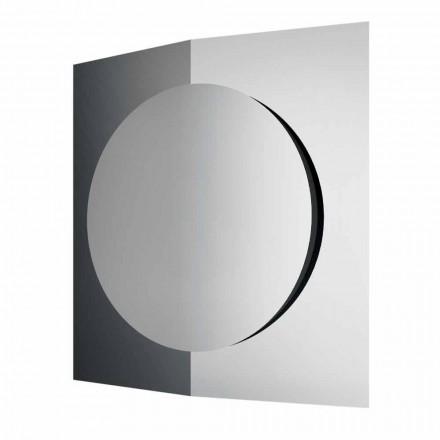 Pasqyra e murit me dizajn modern të përbërë nga 3 panele të prodhuara në Itali - Bristol