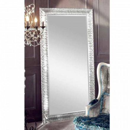 Pasqyrë mur drejtkëndëshe prej druri të bredhit, prodhuar në Itali, Achille