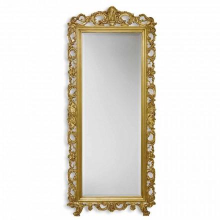 Pasqyrë mur / ari argjendi në dru ayous, punuar me dorë në Itali, Francesco