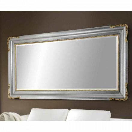 Pasqyrë mur prej druri të punuar me dorë, prodhuar plotësisht në Itali, Cristian
