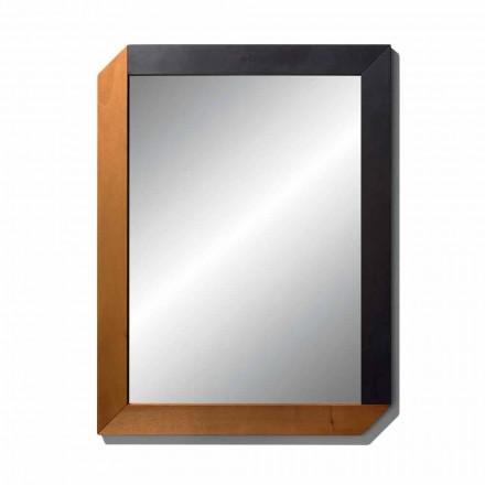 Pasqyrë drejtkëndëshe me kornizë prej druri të Dizajnit të bërë në Itali - Cira