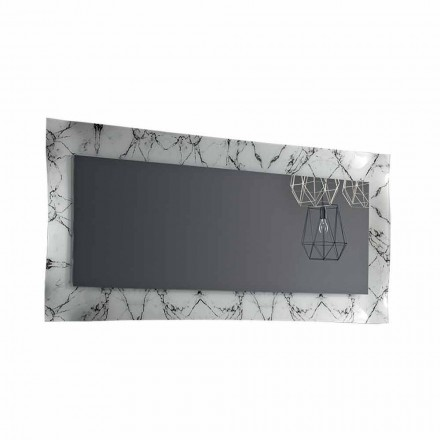 Pasqyrë drejtkëndëshe me kornizë qelqi prodhuar në Itali - Eclisse
