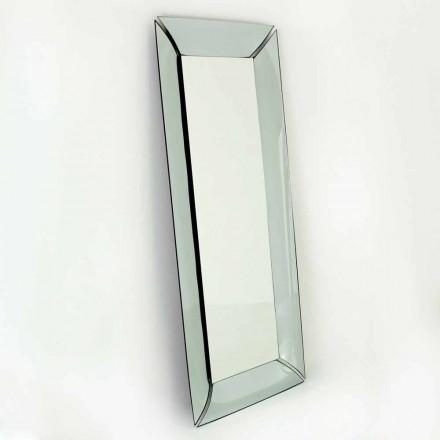 Pasqyrë e madhe drejtkëndëshe në kristal e bërë në Itali Dizajn - Binjake