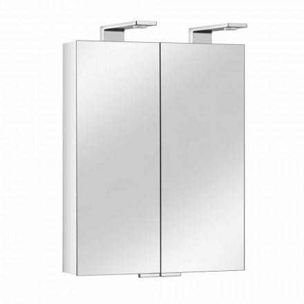 Pasqyrë 2-Door me Enë Alumini prej Argjendi dhe Detaje të Kromit - Maxi