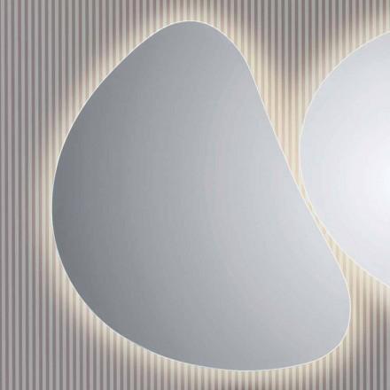 Pasqyrë banjo me dritë të pasme Pirro LED, dizajn modern