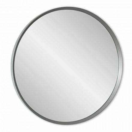 Pasqyra e murit të rrumbullakët me një kornizë të lakuar të modelit modern elegant - Odosso