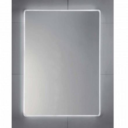 Pasqyrë banjo LED Tessa me skaj të ngrirë, dizajn modern