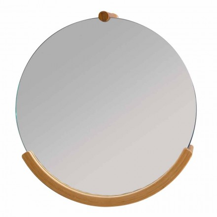 Dizajni pasqyrë e murit të banjës me kornizë bambuje Gorizia