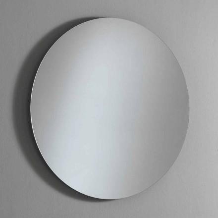 Pasqyrë muri e rrumbullakët me ndriçim të ndezur me LED prodhuar në Itali - Ronda