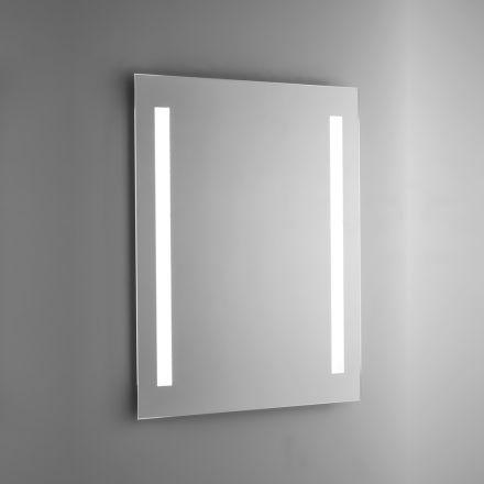 Pasqyrë banje me tel të lëmuar me dritë të pasme LED prodhuar në Itali - Tony