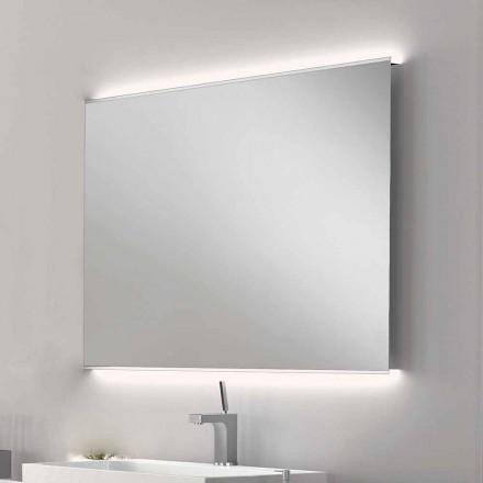 Pasqyrë banjo Veva LED me skaj të ngrirë, dizajn modern