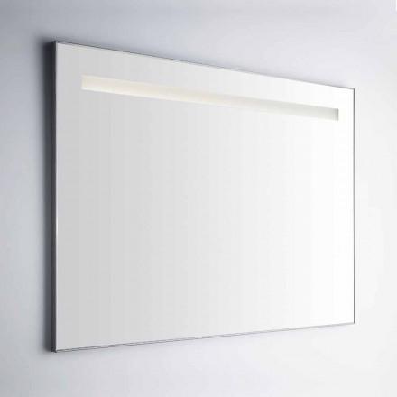 Pasqyrë banjo muri me kornizë në aluminit Simil prodhuar në Itali - Tobi