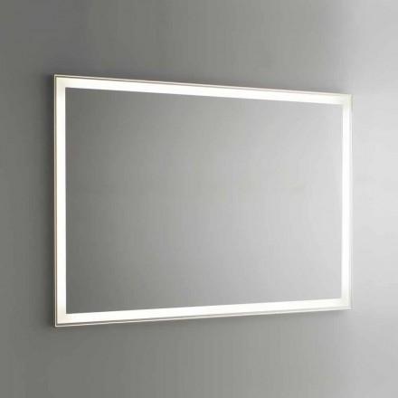 Pasqyrë banjo në imitim të aluminit me dritë të pasme prodhuar në Itali - Palau