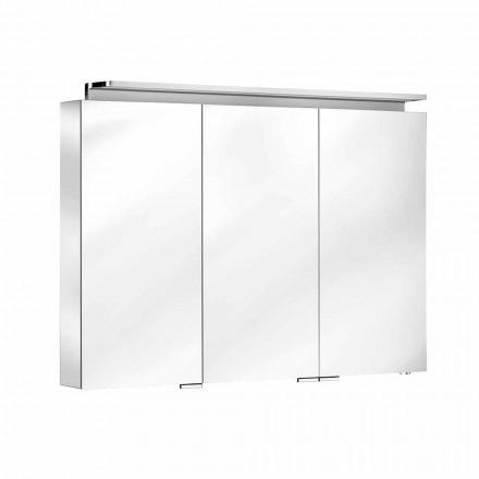 Pasqyrë banjo me njësi muri me 3 dyer me rafte të brendshme - Bramo