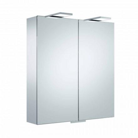Pasqyrë luksoze muri me 2 dyer dhe ndriçim LED - Ratchet