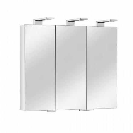 Enë pasqyre me 3 dyer kristali dhe 3 drita LED, të çmuara - Maxi