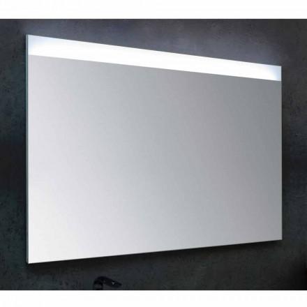 Pasqyrë banjo Yvone me dritë LED, dizajn modern