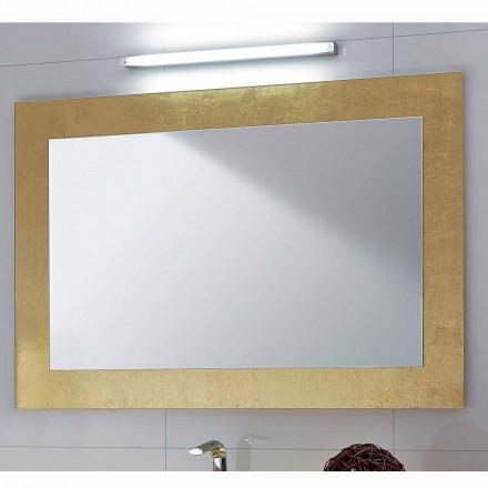 Pasqyrë klasike e banjës Pascal me kornizë fletë ari