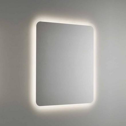 Pasqyrë e rrumbullakosur e banjës me dritë të pasme LED prodhuar në Itali - Pato