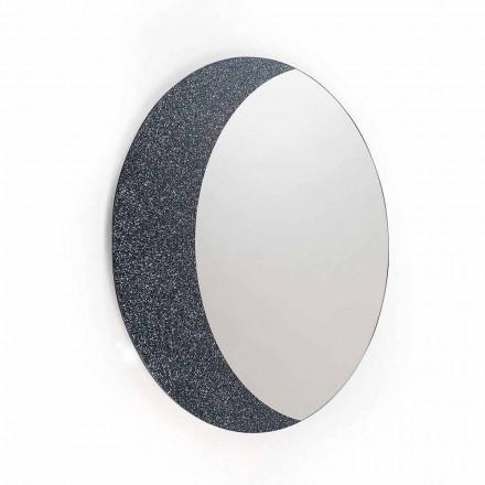 Pasqyra e murit Aldo e bërë në Itali, dizajn bashkëkohor, shkëlqim dhe xhami