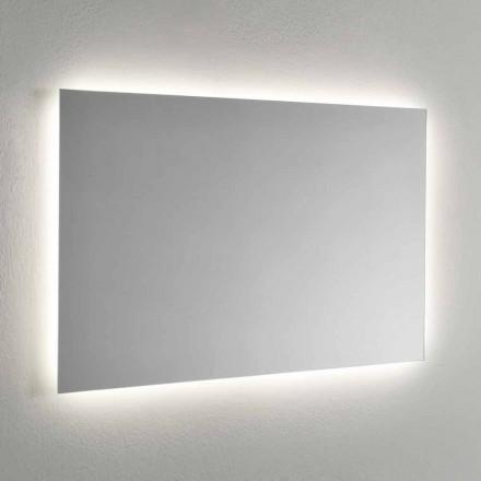 Pasqyrë muri me ndriçim LED në 4 anët e prodhuara në Itali - Romio