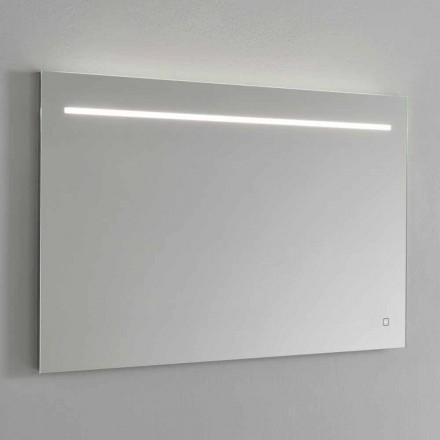 Pasqyrë Muri Moderne me Dritë LED dhe Kornizë Çeliku Prodhuar në Itali - Yutta