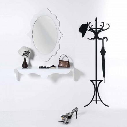 Pasqyrë e murit të bardhë me një Dizajn modern Joy, e bërë në Itali