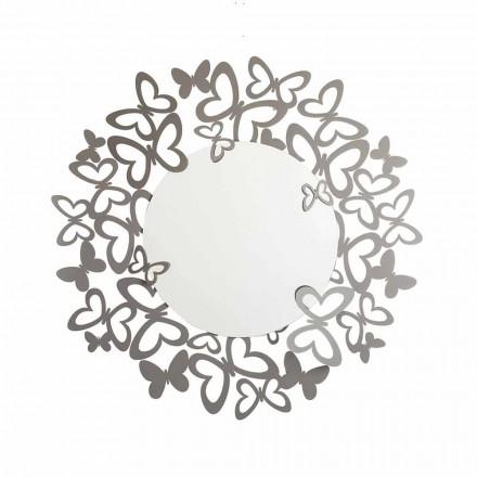 Pasqyrë mur rrethor i modelit modern në hekur të bërë në Itali - Stelio