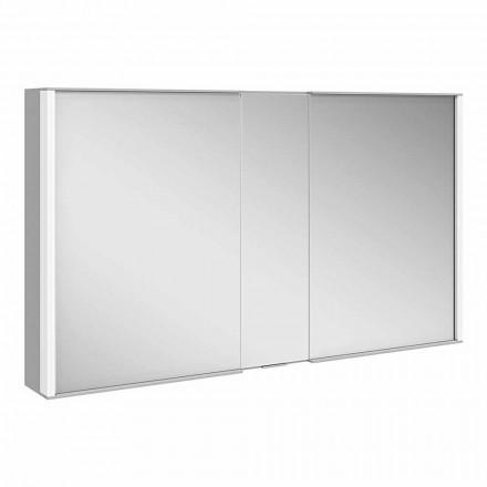 Pasqyrë Muri Moderne me 3 Dyer në Alumini të Pikturuar me Argjend - Demon