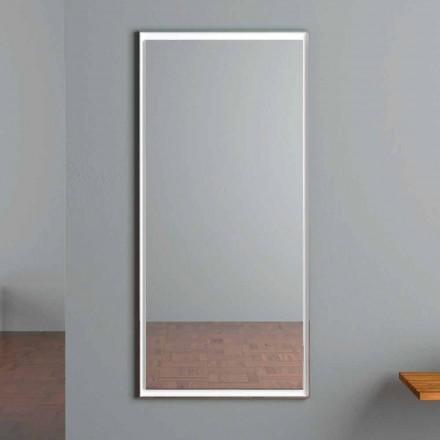 Pasqyrë Muri me Ndriçim LED me Ndërprerës Prekje Prodhuar në Itali - Ammar