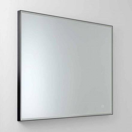 Pasqyrë Muri Katrore me LED në Qelq Saten Prodhuar në Itali - Mirro