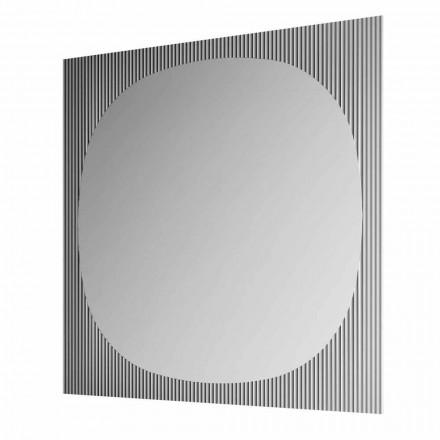 Pasqyra moderne e murit katror në Smokey Color Made in Italy - Bandolero