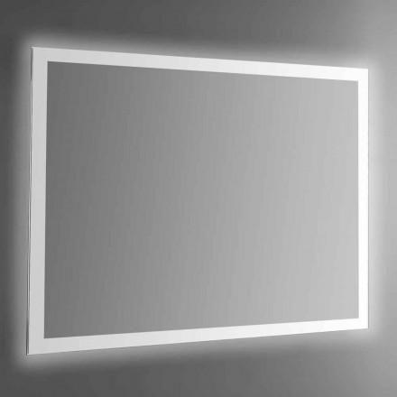 Pasqyrë muri e ndriçuar me kornizë me rërë të prodhuar në Itali - Edigio