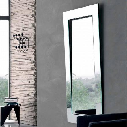 Pasqyrë drejtkëndëshe e murit me kornizë të prirur e bërë në Itali - Salamina
