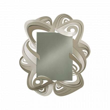 Pasqyra moderne e drejtkëndëshe në mur hekuri Made në Itali - Penny