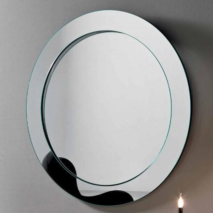Pasqyra e murit të rrumbullakët me kornizë të prirur e bërë në Itali - Salamina
