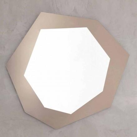 Pasqyrë muri në formë me kornizë qelqi prodhuar në Itali - Klori