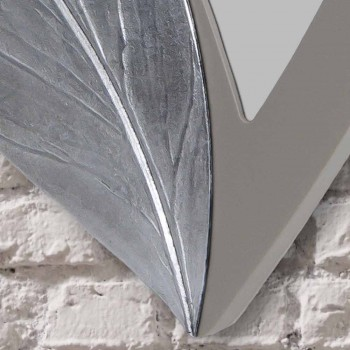 Pasqyra muri në formë pëllumbi gri moderne, e bërë në Itali Sagama