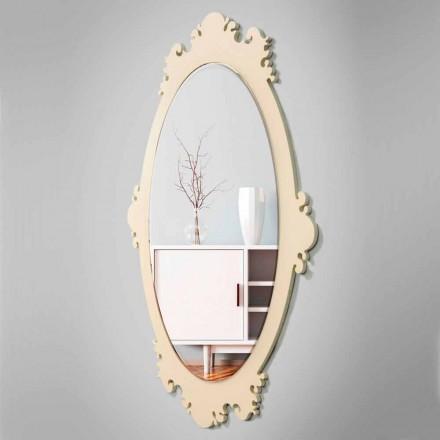 Pasqyrë mur me një kornizë të Dizajnit me Virtë me Lule kafeje - Giangio