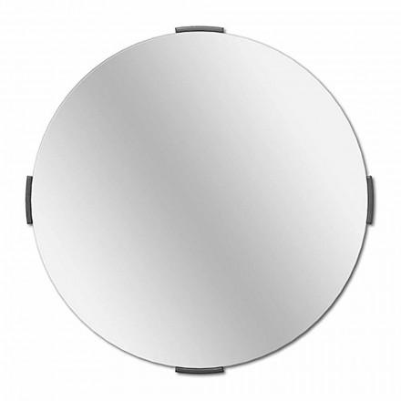 Pasqyrë e murit me një kornizë të modelit të dizajnit të rrumbullakët - Odosso