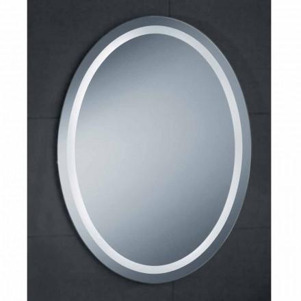 Pasqyrë banjo LED Pura, dizajn modern