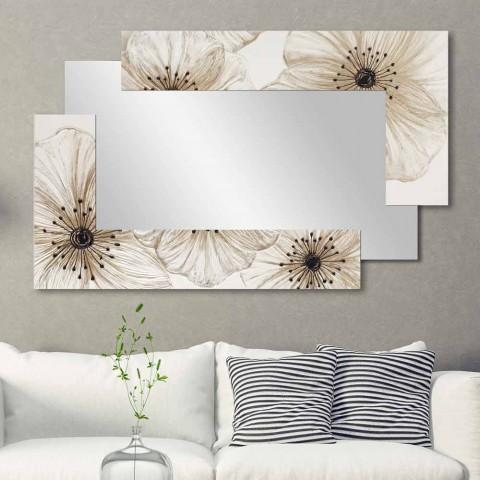 Pasqyrë muri me elle të dyfishtë të bërë në Itali Dizajn me rërë