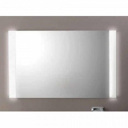 Pasqyra e banjës Agata me dritë LED, L1200xh.900 mm