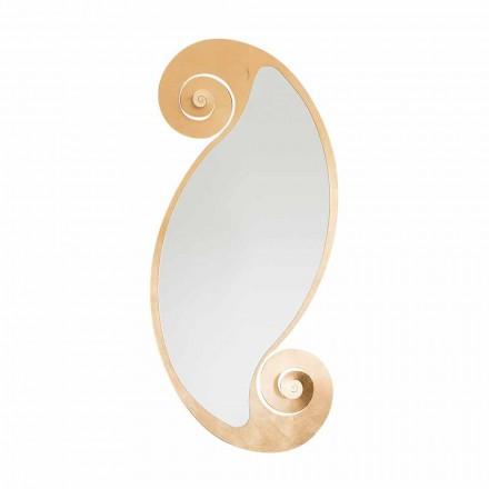 Pasqyrë murale ovale e modelit modern në hekur të bërë në Itali - Paqësori
