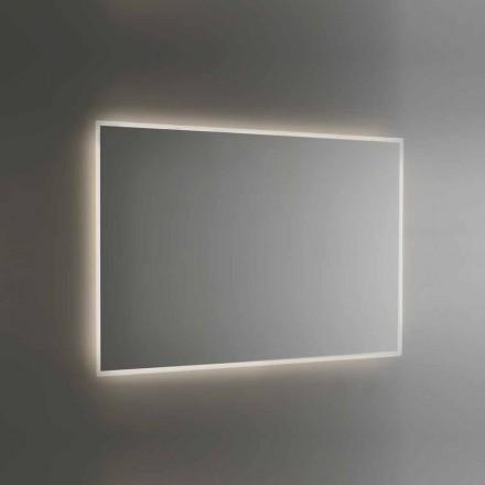 Pasqyrë banjo me ndriçim me kornizë me rërë të prodhuar në Itali - Floriana