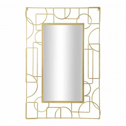 Pasqyrë muri hekuri drejtkëndëshe me dizajn modern - Plinio