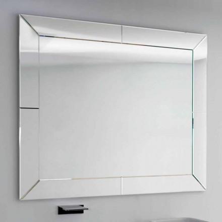 Pasqyrë banjo moderne Dedalo me kornizë xhami të prerë, H120xL120 cm