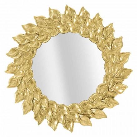 Pasqyra e murit të rrumbullakët të modelit modern me kornizë hekuri - Seneca
